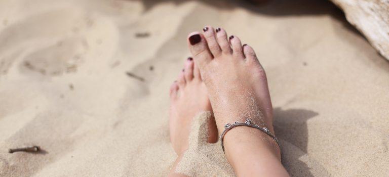 Pedicure behandeling, mooie verzorgde voeten